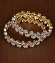 Buy Gold cubic zirconia bangles-and-bracelets women-ethnic-wear online