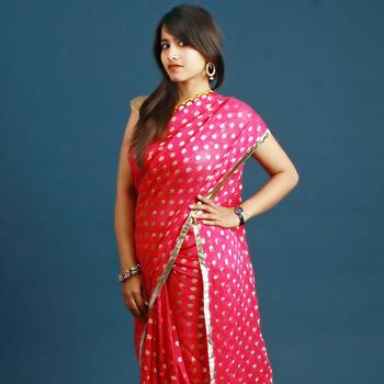 Pink & Yellow Saree