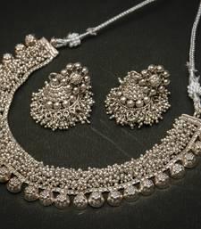Buy Tribal german silver necklace necklace-set online