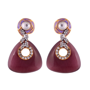 Wine Onyx Smart Look Fashionable Earring