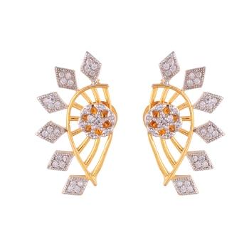 Gold Silver Americian Diamond Stylish Earcuff