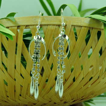 Awesome Silver String Drop Earring