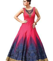 Buy Pink printed silk stitched  ethnic-kurtis ethnic-kurtis online