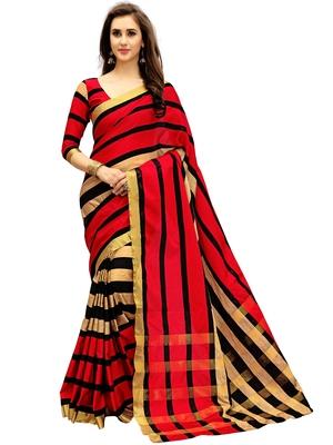 Multicolor woven art silk saree with blouse