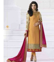 Buy Orange embroidered georgette salwar with dupatta wedding-salwar-kameez online