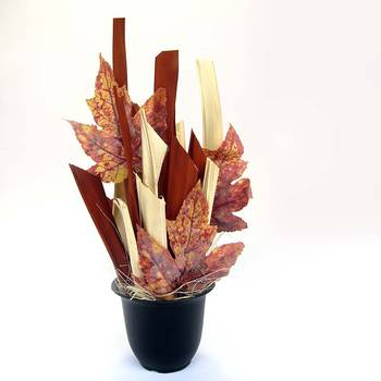 Imported Willows with Artificial Decorative Maple Leaves