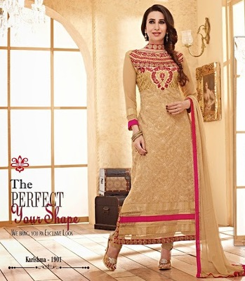 Strollay Semi-Stitched Suit with Dupatta