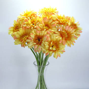 Artificial Gerbera - 12 stems - Yellow