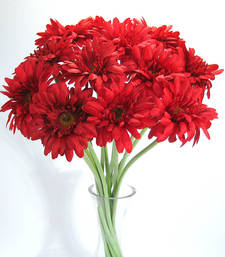 Buy Artificial Gerbera - 12 stems - Red flower-arrangement online