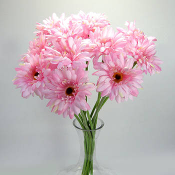 Artificial Gerbera - 12 stems - Pink