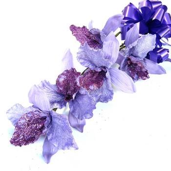 Bunch of Exotic IRIS flowers - 5 Stems - Purple