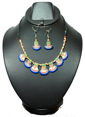 Handmade Terracotta Multicolor Pretty Please Traditional Necklace
