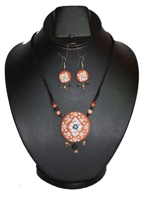Handmade Terracotta Brown Pendant