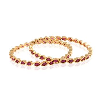 gold plated american diamond  bangle
