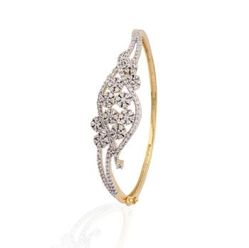 gold plated american diamond  bracelet