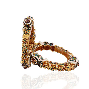 Posh gold plated antique bangle