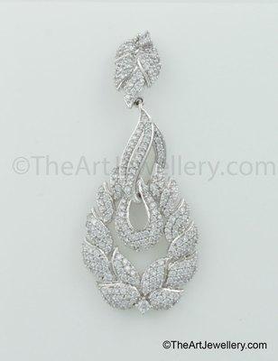 Clear CZ AD American Diamond Drop Earrings Jewellery for Women - Orniza