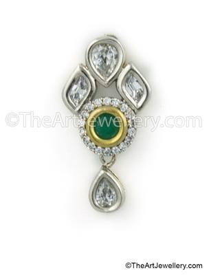 Emerald Green Antique Victorian Drop Earrings Jewellery for Women - Orniza
