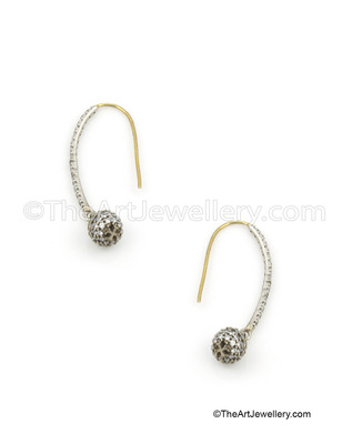 Clear Antique Victorian Hoop Earrings Jewellery for Women - Orniza