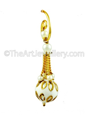 Clear Traditional Rajwadi Dangle and Drop Earrings Jewellery for Women - Orniza