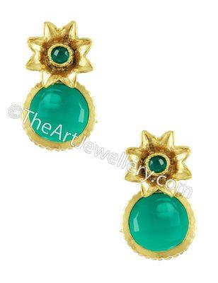 Rama Green Traditional Rajwadi Drop Earrings Jewellery for Women - Orniza