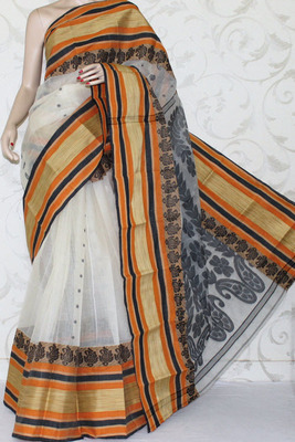 Bengal Handloom Tant Cotton Saree (Without Blouse)