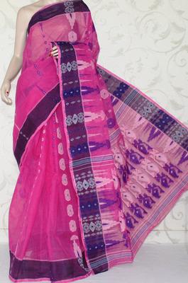 afe5882f35 Bengal Handloom Jamdani Tant Cotton Saree (Without Blouse) - amgsquare -  282061
