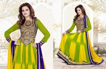 Styloce Green & Yellow Color Designer Salwar Kameez .STY-103-405