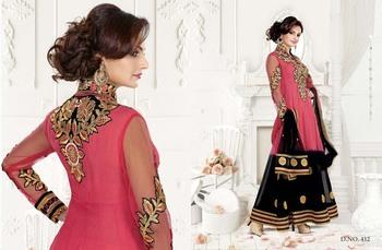 Styloce Pink & Black Color Designer Salwar Kameez .STY-103-412