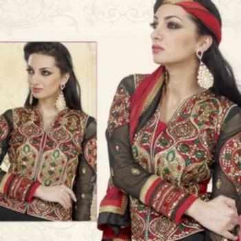 Styloce Black  Color Designer Salwar Kameez .STY-104-109