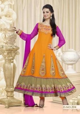 Styloce Orange Color Designer Salwar Kameez .STY-105-204