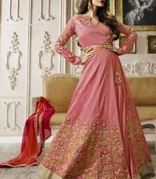 Buy Light pink multi resham work silk salwar with dupatta malaika-arora-khan online