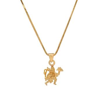 Gold plated lord hanuman temple locket