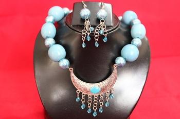 Turquoise Blue Necklace  Set