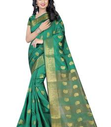 Buy Purple hand woven cotton silk saree with blouse tussar-silk-saree online
