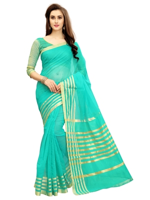260e8b1f08 Light blue woven chanderi silk saree with blouse - GLORY SAREES - 2121597