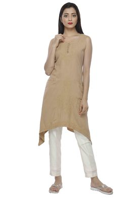 Ada Fawn Hand embroidered Chikankari cotton-kurtis