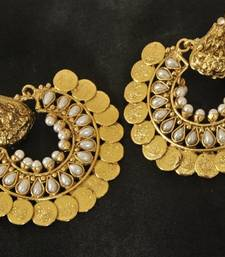 Buy Ram Leela Pearl Coin Earrings curated-jewelry online
