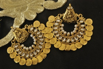 Ram Leela Kundan Earrings