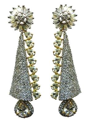 Vatika attractive white american diamond earring