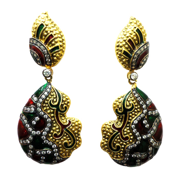 Vatika multicolor american diamond earring