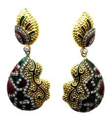 Buy Vatika multicolor american diamond earring danglers-drop online