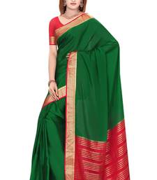Buy Green  pure_crepe saree with blouse art-silk-saree online