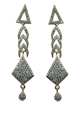 Vatika traditional american diamond earring