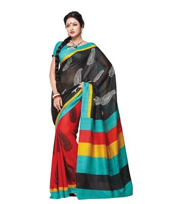 Multi bhagalpuri silk printed-sarees
