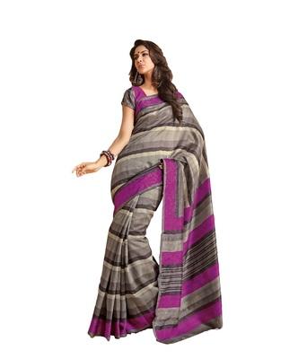 gray bhagalpuri silk saree