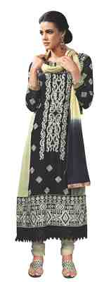 Tremendous Embroidered Faux Georgette Salwar Kameez