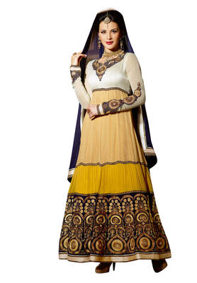 Luxurious Embroidered Faux Georgette Anarkali