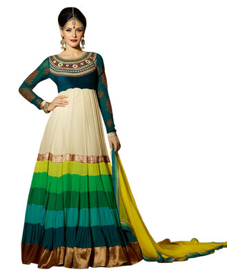 Traditional Embroidered Multi Layered Georgette Anarkali