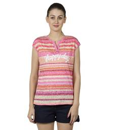 Buy Women pink brasso printed t shirt party-top online